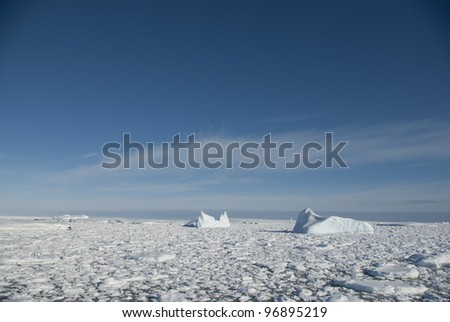 Icebergs in the Antarctic Ocean - 3.