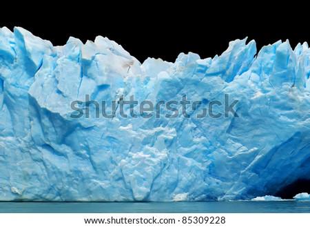Icebergs isolated on black - stock photo