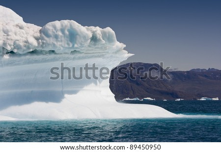 Icebergs of the western Greenland