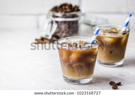iced coconut coffee in glass...