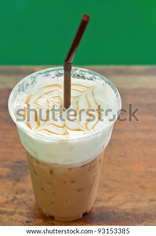 iced coffee in cafe