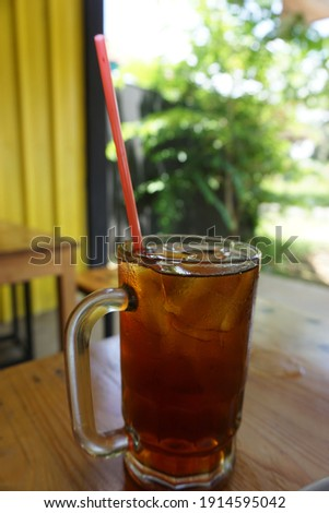 iced tea in the middle of a hot afternoon. soothing Foto stock ©