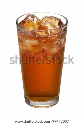 Iced Tea isolated on white with clipping path