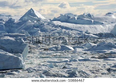 Icefjord near Ilulissat, West Greenland