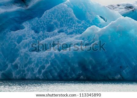 Icelake Jokulsarlon Iceland - stock photo