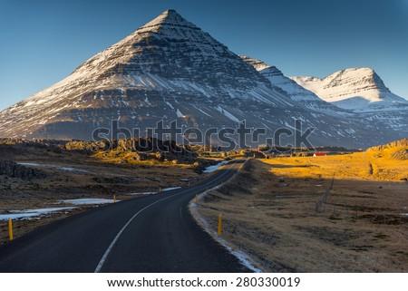 Iceland Landscape :  Winter Iceland Landscape
