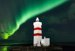 Iceland Northern Lights Lighthouse