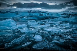Iceland's glaciers at the famous Glacier Lagoon.