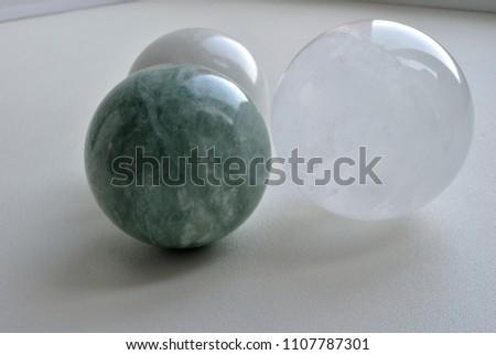 Iceland Spar OPTICAL CALCITE Crystal Sphere Ball,  Natural green Jade quartz crystal sphere, white Jade quartz crystal sphere  #1107787301