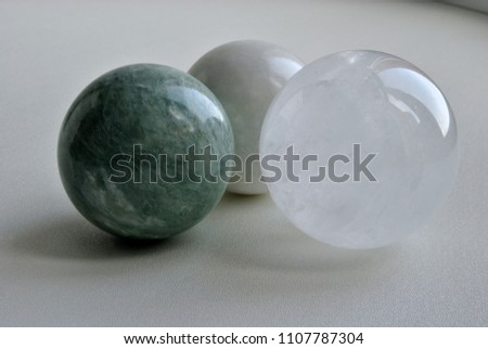 Iceland Spar OPTICAL CALCITE Crystal Sphere Ball,  Natural green Jade quartz crystal sphere, white Jade quartz crystal sphere  #1107787304