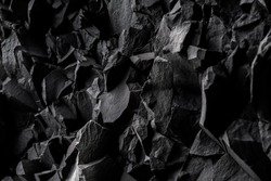 Iceland.  The texture of basalt rocks.