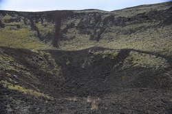 Iceland, volcanic landforms, volcanic craters
