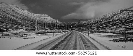 Iceland, Winter,B&W