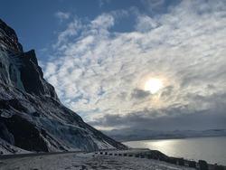 Icelandic coas driving up the snaefellnes peninsula