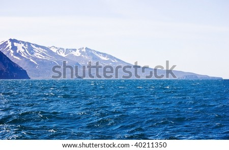Icelandic coastal landscape in the whale watching grounds by the village of Husavik
