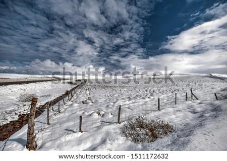 Icelandic landscape after a snowfall in Tjorneshreppur. #1511172632