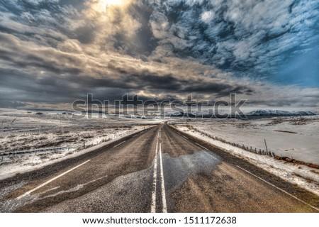 Icelandic landscape after a snowfall in Tjorneshreppur. #1511172638
