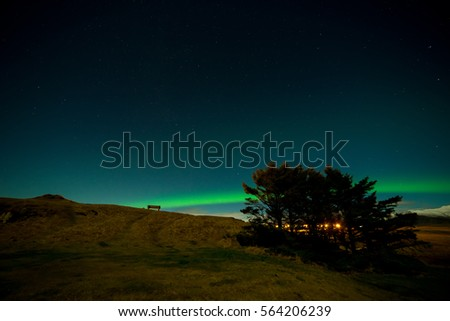 Icelandic Northern Lights in Winter Time #564206239