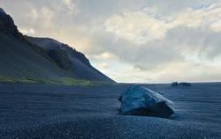 Icelandic Volcanic Beach Reynisfiyara on the coast of norwegian sea