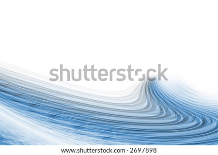 Icey blue swirling background.