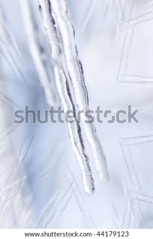 icicle snowflake abstract