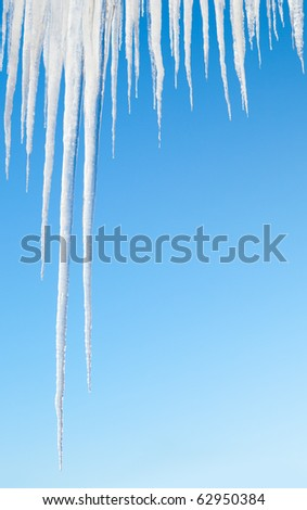 icicles on blue
