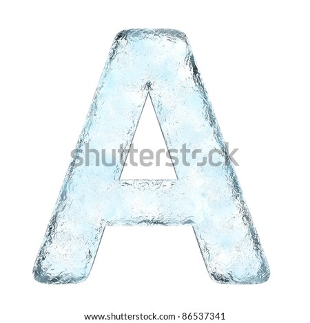 Icing alphabet the letter A (High definition isolated on white)