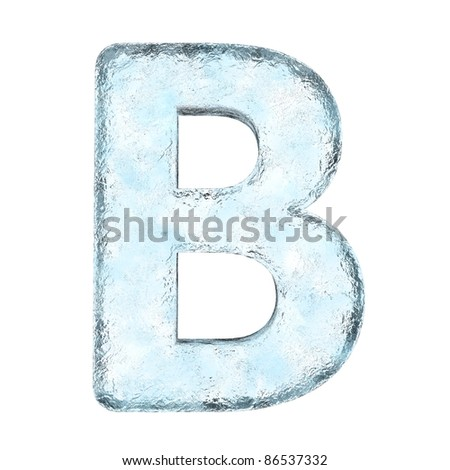 Icing alphabet the letter B (High definition isolated on white)