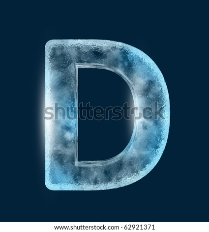 Icing alphabet the letter D