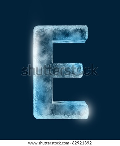 Icing alphabet the letter E
