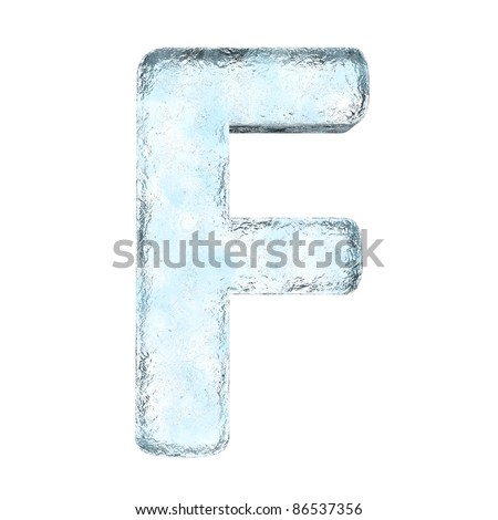 Icing alphabet the letter F (High definition isolated on white)