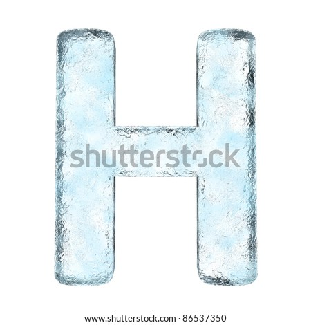 Icing alphabet the letter H (High definition isolated on white)