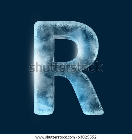 Icing alphabet the letter R