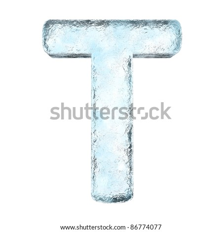 Icing alphabet the letter T (High definition isolated on white)