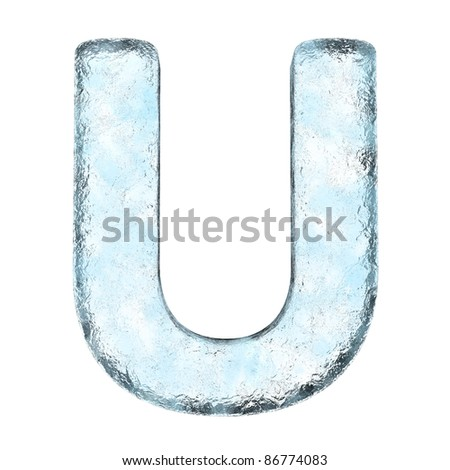 Icing alphabet the letter U (High definition isolated on white)