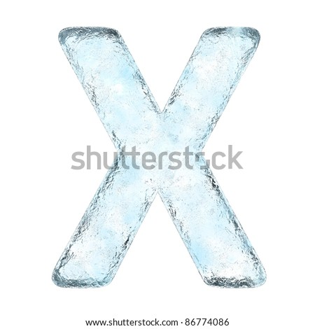 Icing alphabet the letter X (High definition isolated on white)
