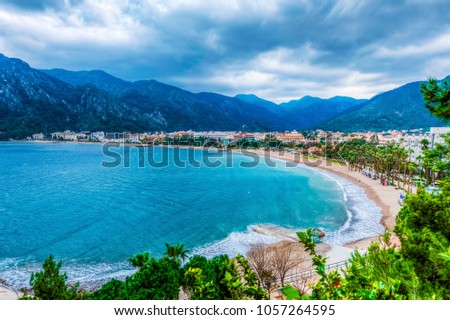 Icmeler Beach view in Marmaris Town