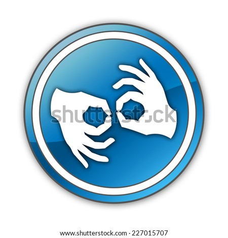 Icon, Button, Pictogram with Sign Language symbol #227015707