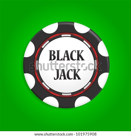 icon chip with an inscription black jack