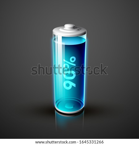icon fully charged battery. Charging process. Battery charge status. Different states of charged. Isolated on grey background. Business Infographics Discharged illustration.