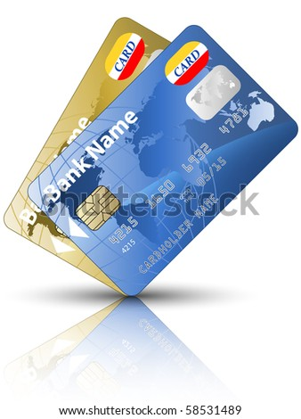 Icon of a two credit cards