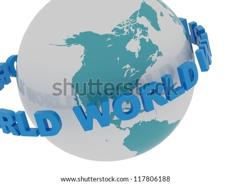 Icon of Earth on a white background - stock photo