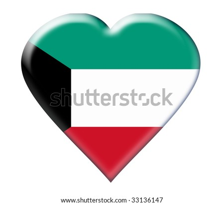 Icon of Kuwait national flag. Illustration on white background