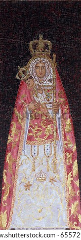 Icon of Madonna. Gift from Canary Spain to Basilica of the Annunciation
