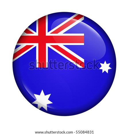 icon with flag of Australia isolated on white background