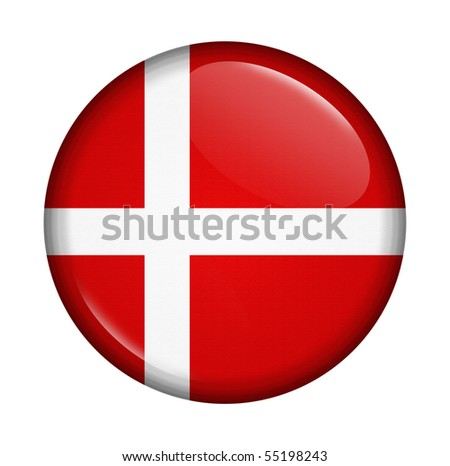 icon with flag of Denmark isolated on a white background