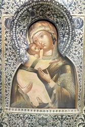 Icon with Virgin Mary and Child Jesus Christ