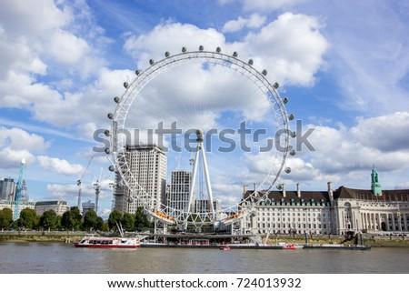 Iconic London eye, London United Kingdom.
