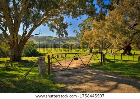 Iconic rural Australia - farm gate scene Сток-фото ©