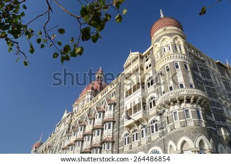 Iconic Taj Mahal Palace Hotel, Mumbai, 17th February 2015. Copy space. #264486854